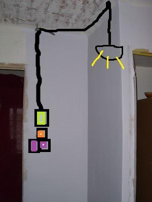 Installation prises courant cuisine et prise frigo